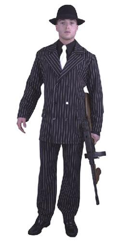 6 Button Gangster Suit Plus Size Costume