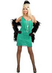Aqua Plus Size Fashion Flapper Costume
