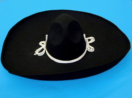 Black Mexican Mariachi Hat