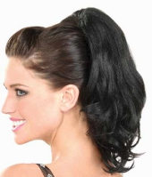 Black Wavy Pony Tail hairpiece