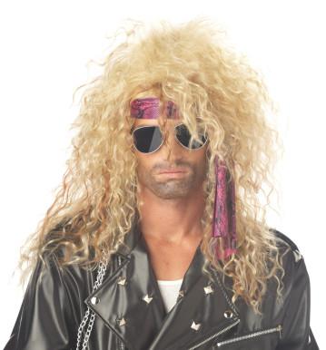 Blonde Heavy Metal Rocker Wig