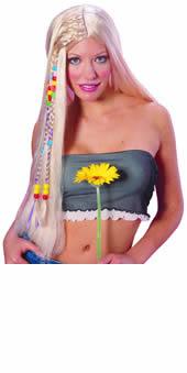 Blonde Hippy Beaded wig