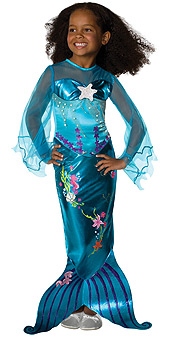Blue Magical Mermaid Child Costume