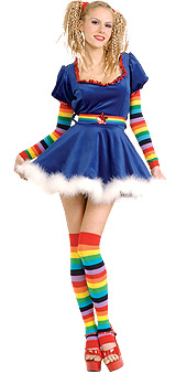 Bright Rainbow Girl Costume