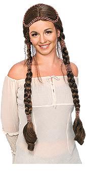 Brown Renaissance Lady wig