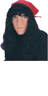 Bushy Black Pirate Wig