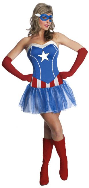 Captain American Dream Marvel Costume