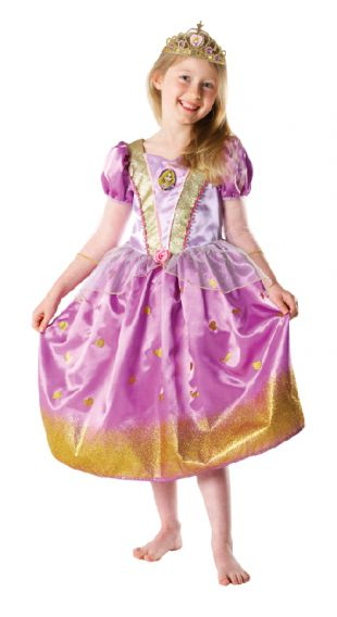 Child Glitter Rapunzel Costume