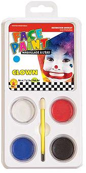 Clown Face Paint Palette