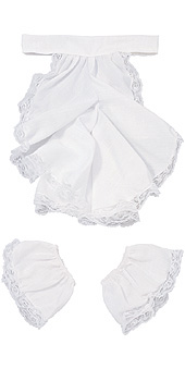 Colonial Jabot and Cuffs set white