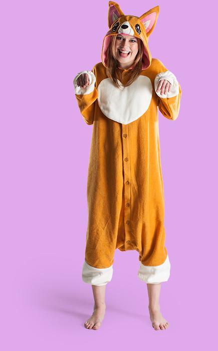 Corgi Adult Onesie Costume