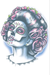 Day of The Dead Senora Muerte Temporary Tattoo