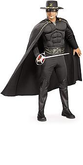 Deluxe Muscle Chest Zorro Costume