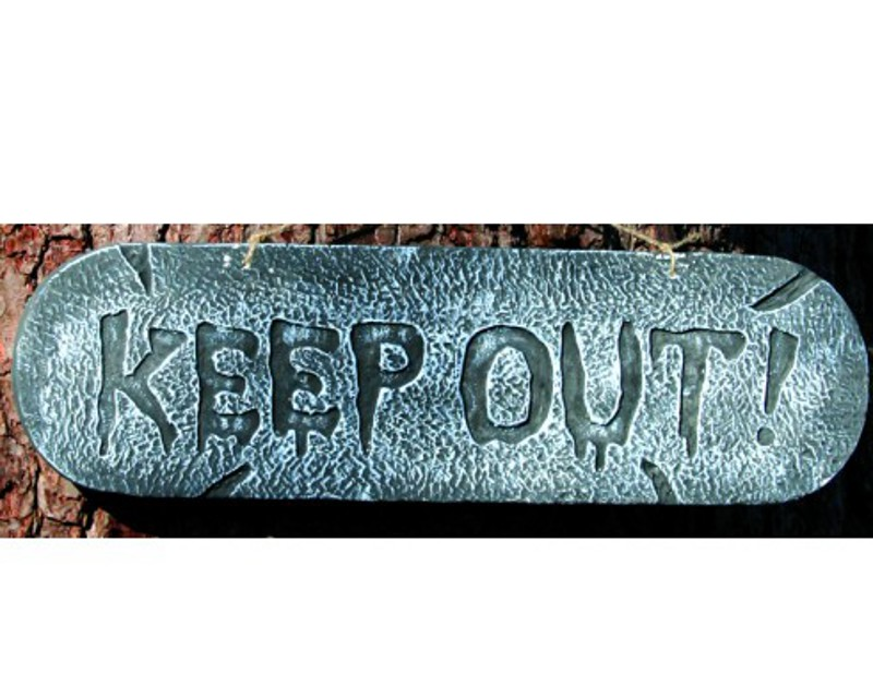 Distressed Sign KEEP OUT