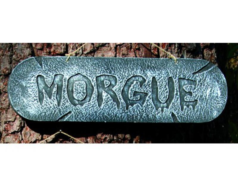 Distressed Sign MORGUE