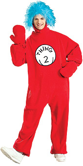 Dr Seuss Thing 2 Fleece Adult costume
