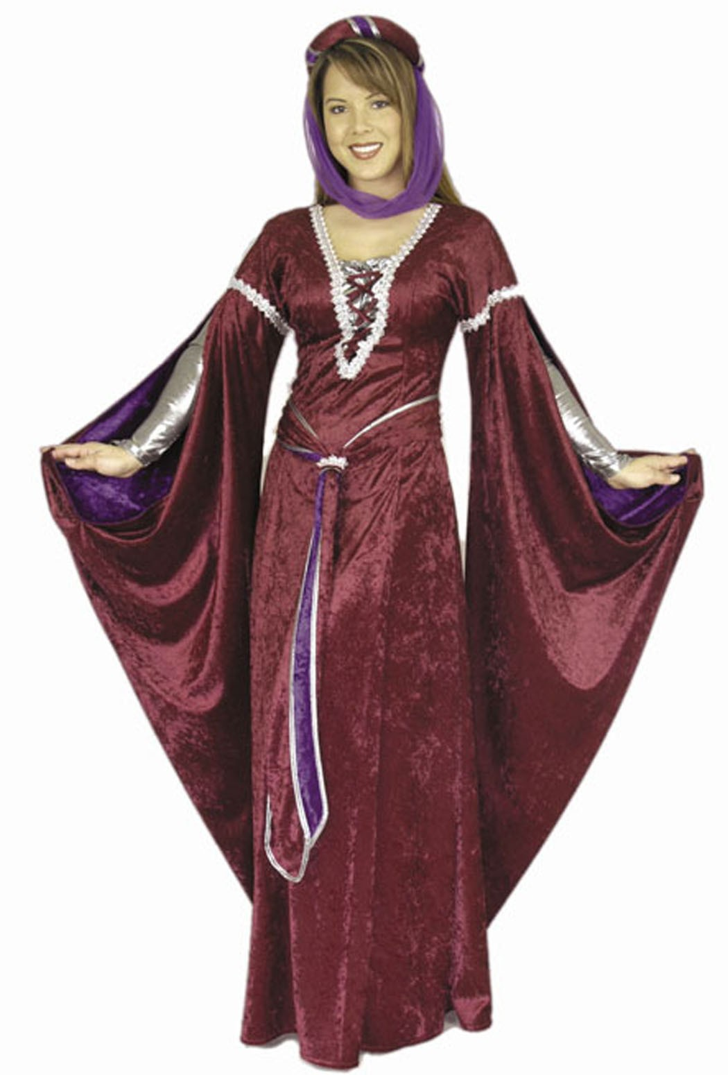 Enchantress of Camellot Burgundy Costume