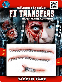FX 3D transfer Zipper Face Wounds