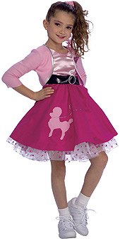 Fifties Girl Child Costume