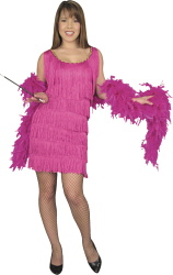 Fuchsia Fashion Flapper Costume
