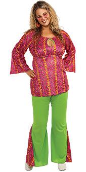 Full Figure 60s Girl Costume