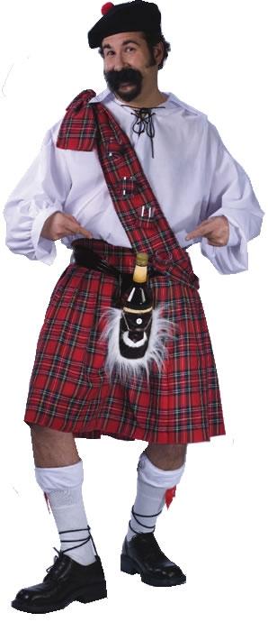 Full Figure Big Shot Scot Costume
