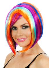 Glamour Long Bob Rainbow Wig