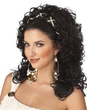 Grecian Goddess Wig Dark Brown