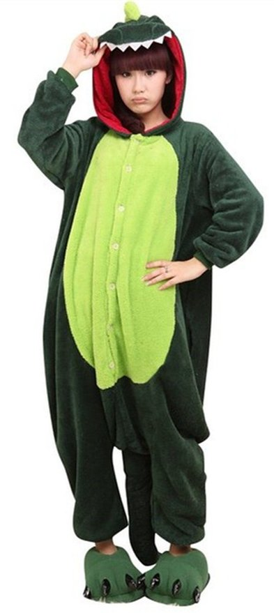 Green Dragon Onesie Adult Costume