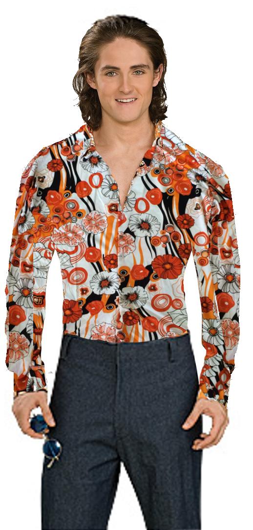 Groovy Shirt Orange Costume