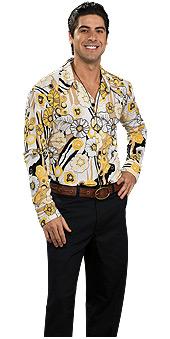 Groovy Shirt Yellow Costume