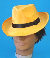 Jim Carrey The Mask Yellow Fedora Hat