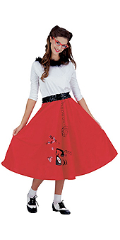 Jitterbug Girl Red Costume