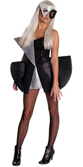 Lady Gaga Black Sequin Dress Costume