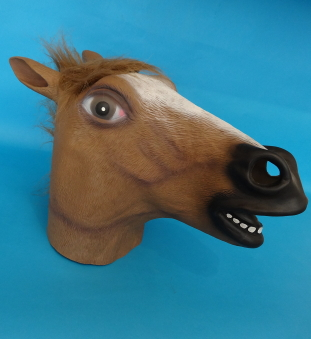 Latex overhead Horse Mask