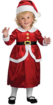 Lil Ms Claus Child Costume