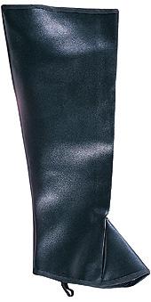 Mens high black boot tops