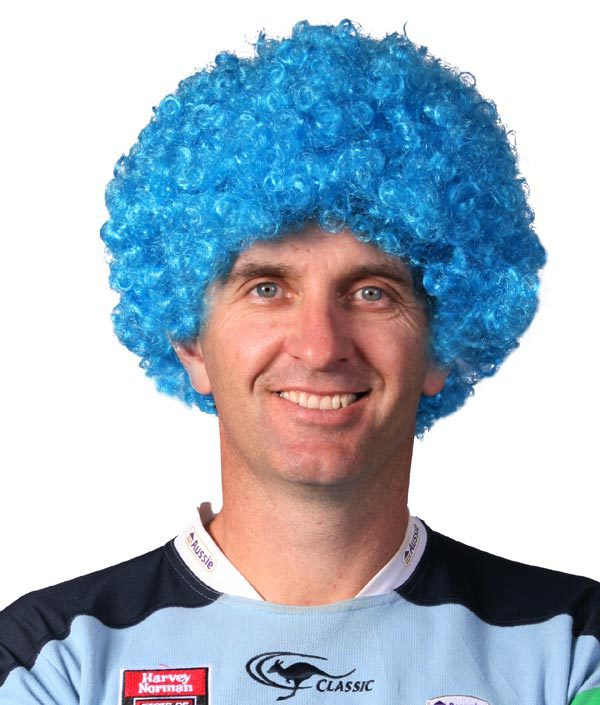 NSW Blues Afro Wig