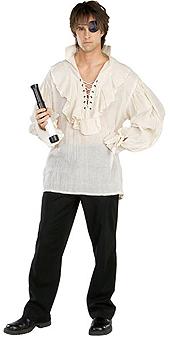 Natural Linen Pirate Shirt Costume