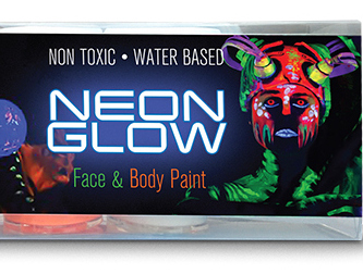 Neon Glow Face and Body Paint kit