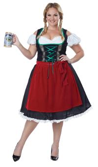 Oktoberfest Frauline Plus Size Costume