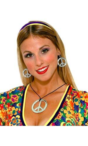 Peace Pendant and Earring Set