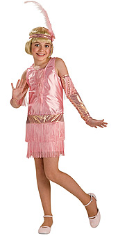 Pink Flapper Child Costume