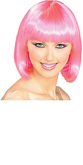 Pink Supermodel bob wig