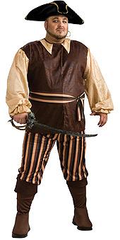 Plus Size Caribbean Pirate Costume