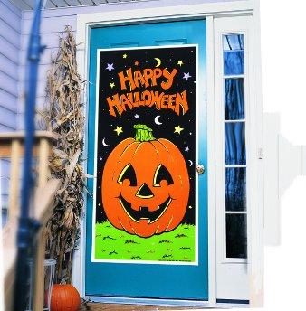 Pumpkin Door Cover