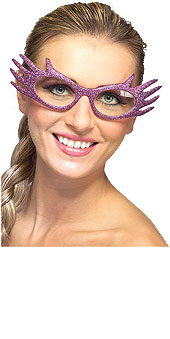Purple Glitter Glasses