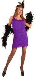 Purple Plus Size Fashion Flapper Costume