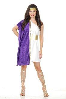 Purple Toga Woman Costume