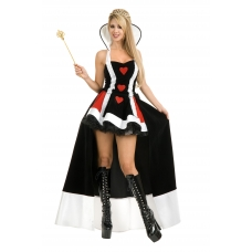 Queen of Hearts with overskirt Costume